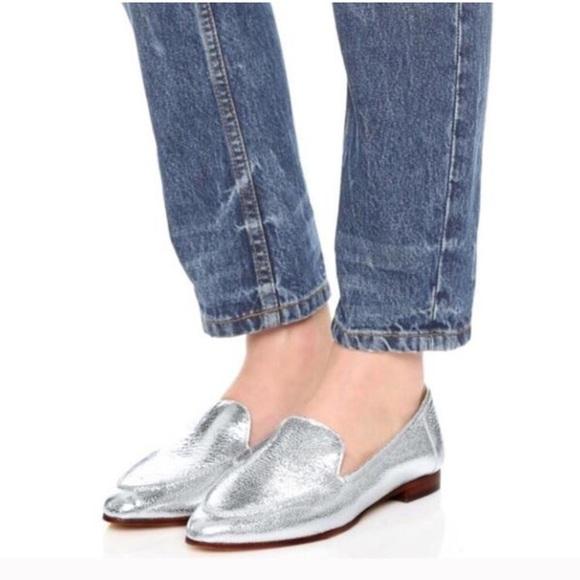 ba0213c8b550 Kate Spade New York Carima Silver Flats  NIB